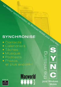 The Missing Sync Windows Mobile